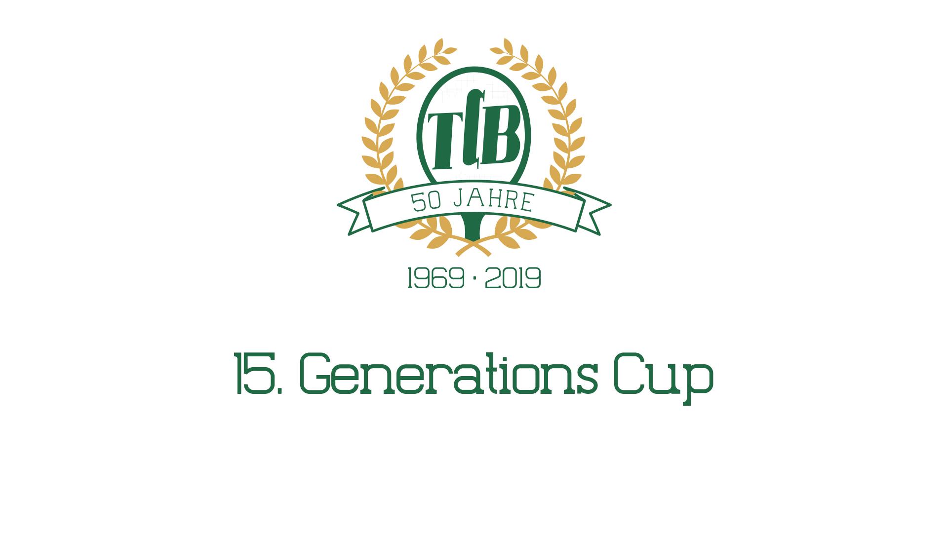 Einladung zum 15. Generations Cup beim TCB