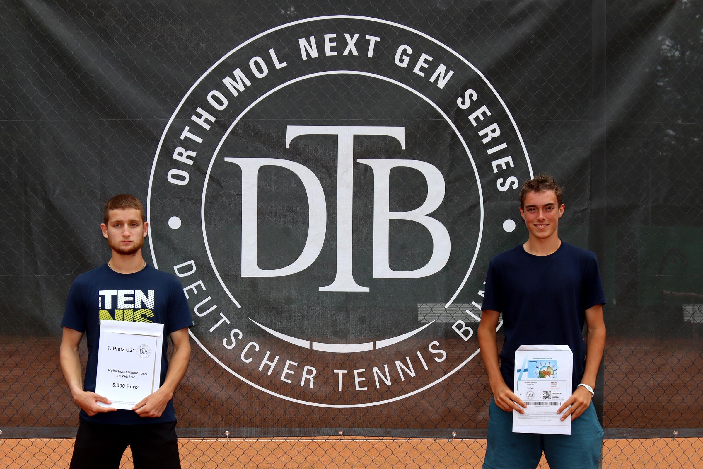 Mit Finalspielen der Orthomol Next Gen Series enden großartige Tennistage beim TC Bruchköbel – Siegerehrung mit Repräsentanten von Sport und Politik